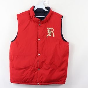 Polo Ralph Lauren Mens Medium  Puffer Vest Red